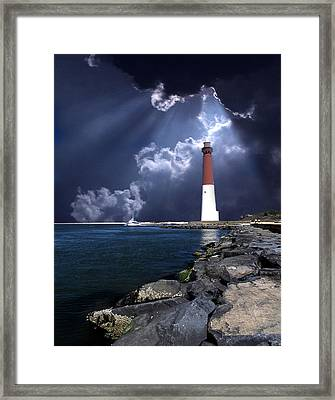 Barnegat Inlet Lighthouse Nj Framed Print