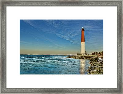 Framed Print featuring the photograph Barnegat Lighthouse - Lbi by Lee Dos Santos