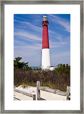 Barnegat Lighthouse Framed Print by Anthony Sacco