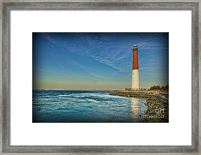 Framed Print featuring the photograph Barnegat Lighthouse II - Lbi by Lee Dos Santos
