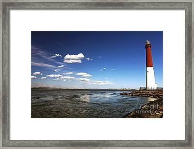 Barnegat Lighthouse Framed Print by John Rizzuto