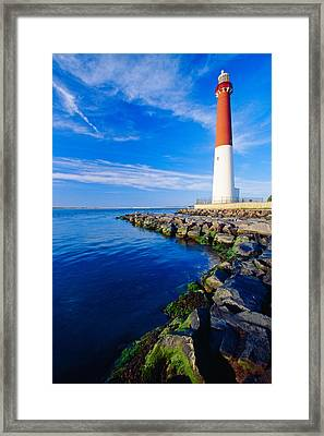 Barnegat Lighthouse Long Beach Island New Jersey Framed Print by George Oze