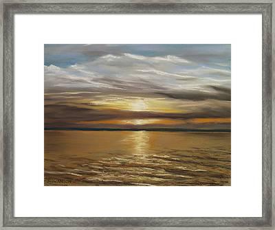 Barnegat Sunset Framed Print by Joan Swanson