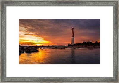 Barnegat Sunset Light Framed Print