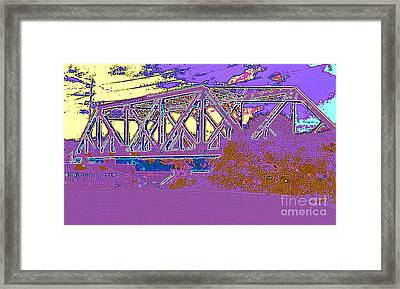 Framed Print featuring the photograph Barnes Ave Erie Canal Bridge by Peter Gumaer Ogden