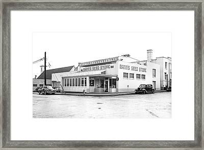 Framed Print featuring the photograph Barnes Seed Store by Merle Junk