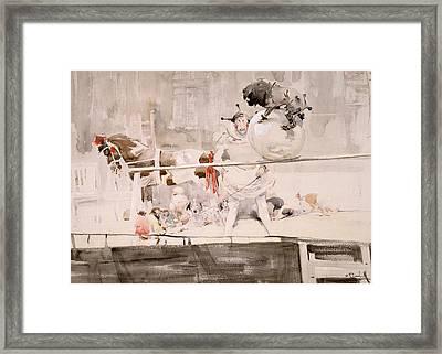 Barnet Fair Framed Print by Joseph Crawhall