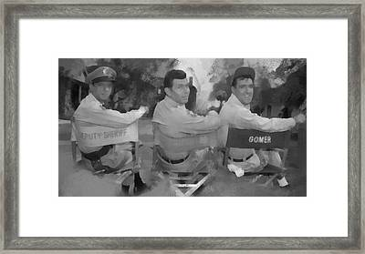 Barney Andy And Gomer Framed Print