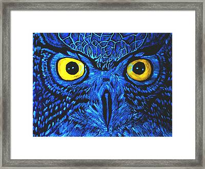 Framed Print featuring the painting Barney Black Light View by Lisa Brandel