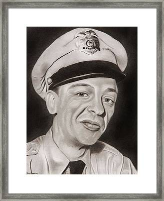 Barney Fife Framed Print by Brian Broadway