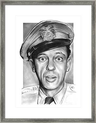 Barney Fife Framed Print by Greg Joens