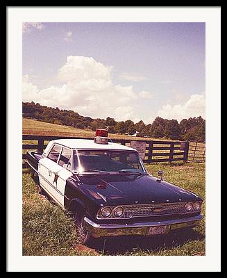 Fifes Police Car Photographs Framed Prints