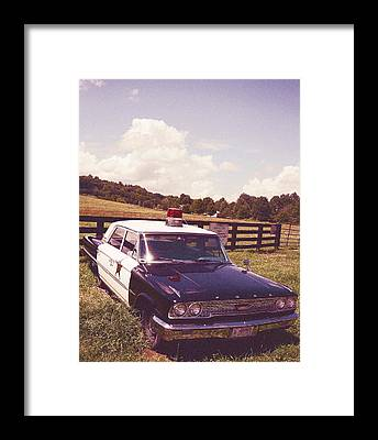 Barney Fifes Police Car Framed Prints