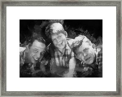 Barney Opie And Andy Framed Print by Paulette B Wright