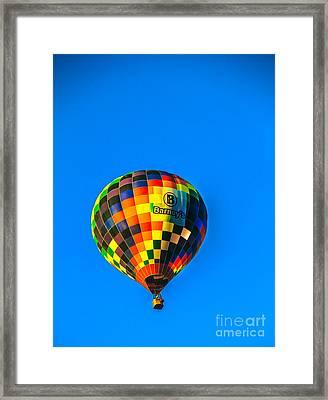 Barney's Hot Air Balloon Framed Print by Robert Bales
