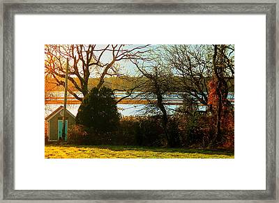 Barneys Joy Road Out Back Evening Framed Print by Kathy Barney