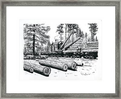 Barnhart Log Loader Framed Print