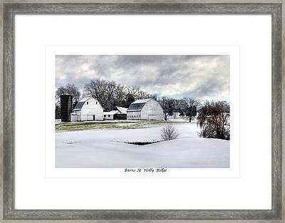 Barns At Holly Ridge Framed Print by Terry Spencer