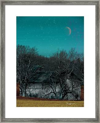 Barns-featured In Visions Of The Night Group Framed Print by EricaMaxine  Price