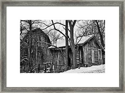 Framed Print featuring the photograph Barns by JRP Photography