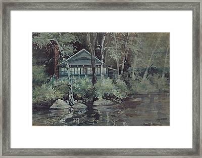 Barnstead Summer Cottage Framed Print by Joy Nichols