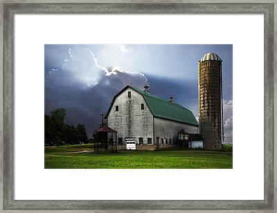 Barnstormer Framed Print by Debra and Dave Vanderlaan