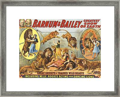 Barnum & Bailey�s  1915 1910s Usa Framed Print by The Advertising Archives