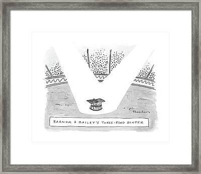 Barnum & Bailey's Three Ring Binder Framed Print by Danny Shanahan