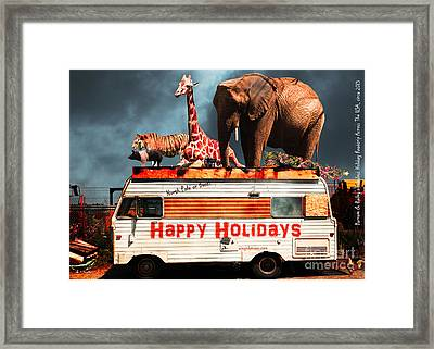 Barnum And Bailey Fabulous Holiday Roadtrip Across The Usa Circa 2013 5d22705 Framed Print by Wingsdomain Art and Photography