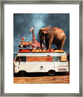 Barnum And Bailey Goes On A Road Trip 5d22705 Vertical Framed Print by Wingsdomain Art and Photography