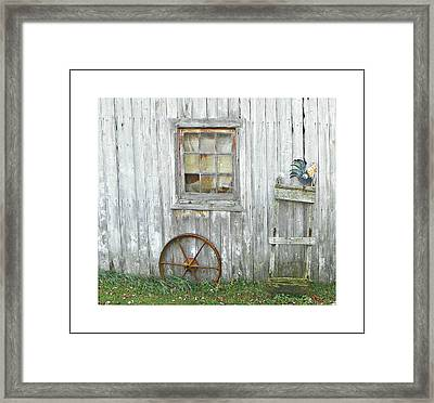 Barnwood Decor Framed Print by Dianne  Lacourciere