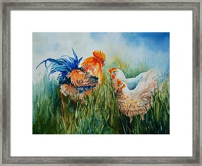 Barnyard Family Framed Print