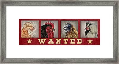 Barnyard Gang Wanted Framed Print