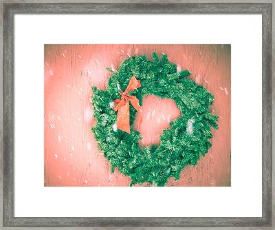 Barnyard Wreath Framed Print by Nickaleen Neff