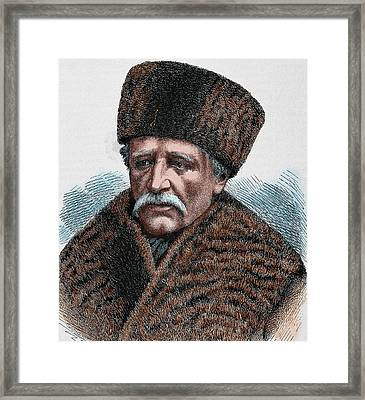 Baron Adolf Erik Nordenskjold Framed Print by Prisma Archivo