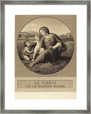 Baron Auguste-gaspard-louis Desnoyers After Raphael French Framed Print by Quint Lox