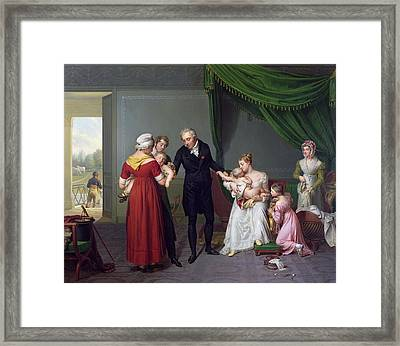 Baron Jean Louis Alibert Framed Print by Constant Joseph Desbordes