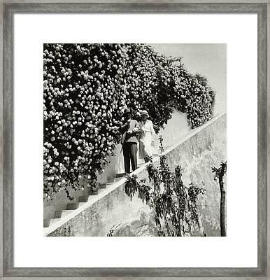 Baron Rodolphe D'erlanger And Lady Mendl Framed Print by John Mcmullin