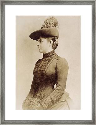 Baroness Marie Vetsera (c1871-1889) Framed Print
