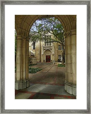 Baroque Architecture Framed Print by Mamie Thornbrue
