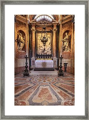 Baroque Chapel Framed Print by Jose Elias - Sofia Pereira