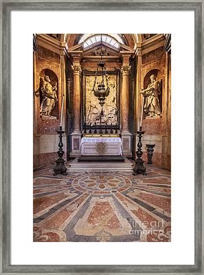 Baroque Chapel Framed Print