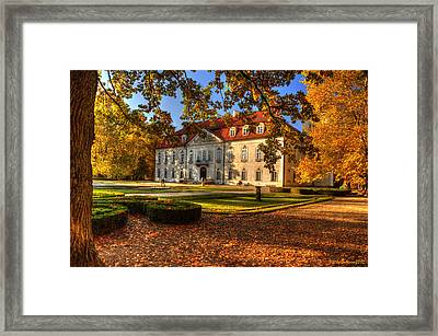 Baroque Palace In Nieborow In Poland During Golden Autumn Framed Print