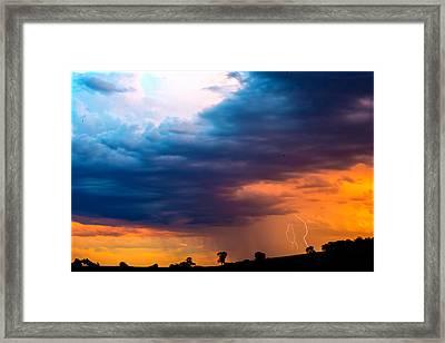 Barossa Valley Lightning IIi Framed Print by Casey Grant