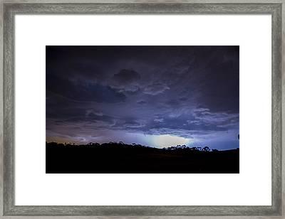 Barossa Valley Lightning I Framed Print by Casey Grant