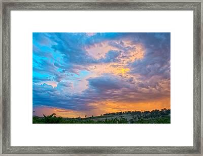 Barossa Valley Sunset Framed Print by Casey Grant