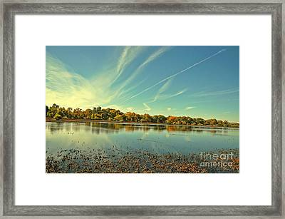 Barr Lake And Classic Cloud Framed Print by Reza Mahlouji