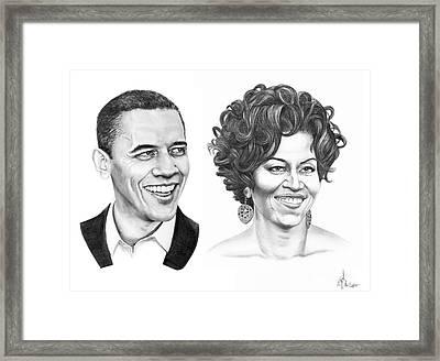 Barrack And Michelle Obama Framed Print