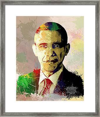 Barrack Obama Framed Print by Anthony Mwangi