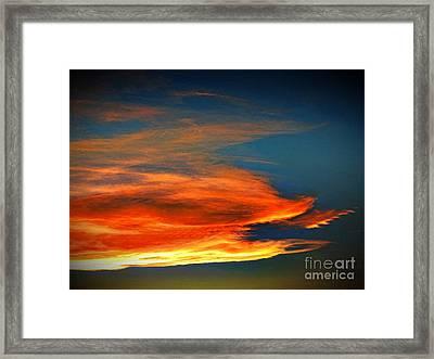 Barracuda Cloud Framed Print by Phyllis Kaltenbach